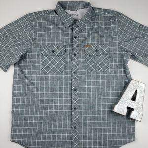 Orvis Short Sleeve Tech Shirt Checkered Button